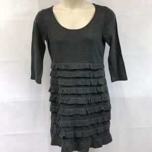 NWOT Signature by Robbie Bee charcoal knit dress